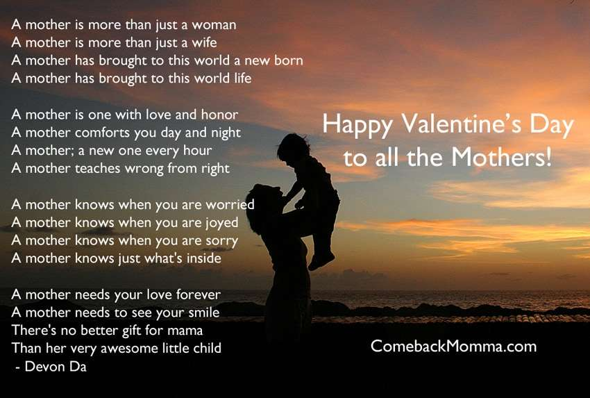 Happy Valentine's Day to Mothers