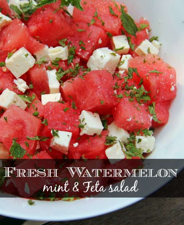 healthy watermelon salad