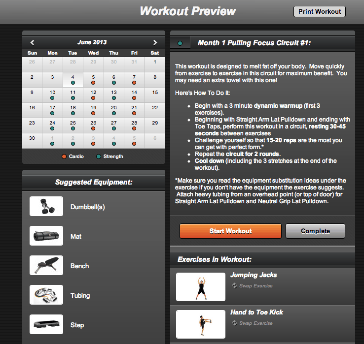 MyFitU Online Fitness Program