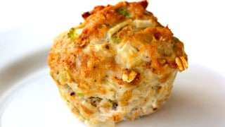 Nutritional Information per serving (1 muffin):  Calories: 183 Protein: 33g Carbs: 6g Fat: 3g