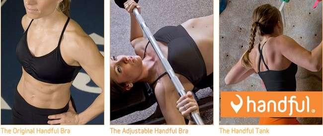Handful women's sportswear bras and tankis