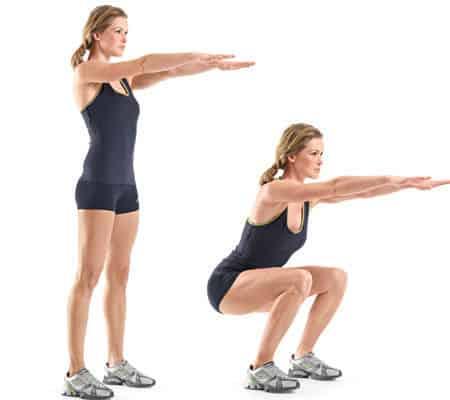 proper squat exercise