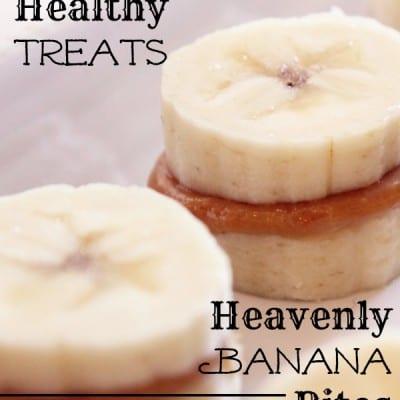 healthy treat - heavenly banana bites