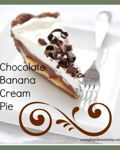 Dessert recipe - banana chocolate cream pie
