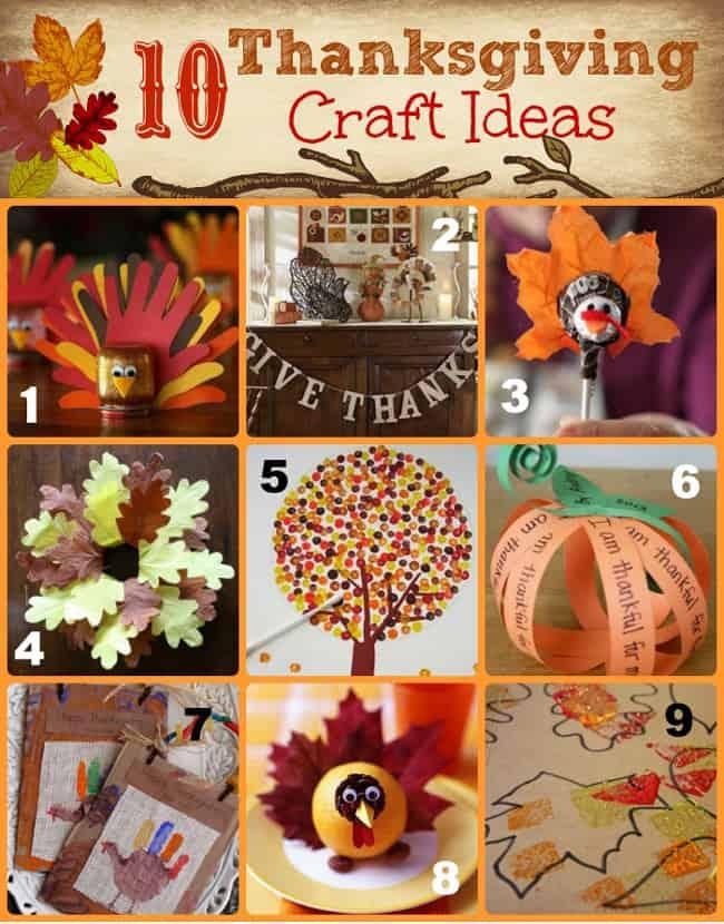10 Thanksgiving Craft Ideas