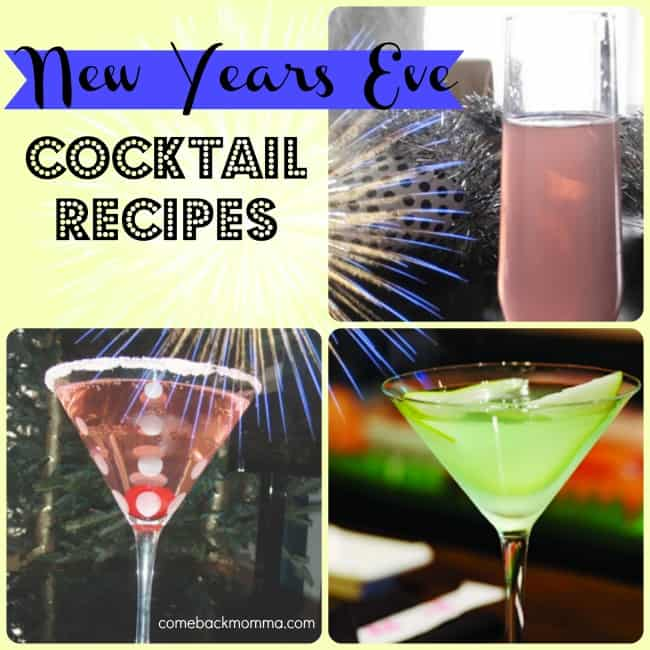 3 Great New Years Eve Cocktail Recipes | Comeback Momma