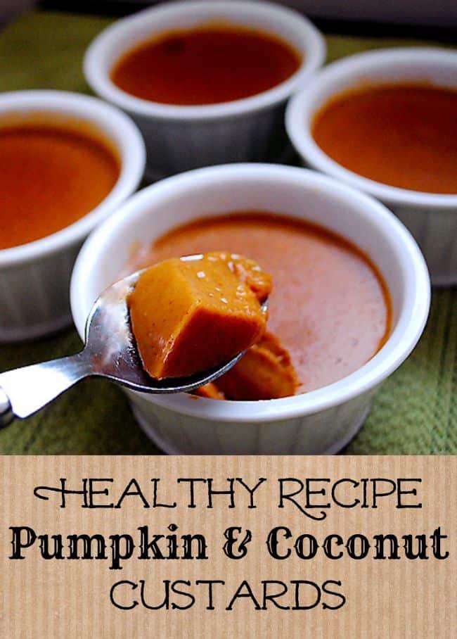 Healthy Recipe: Pumpkin Coconut Custards