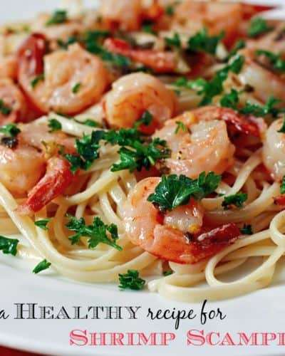 A healthy recipe for shrimp scampi