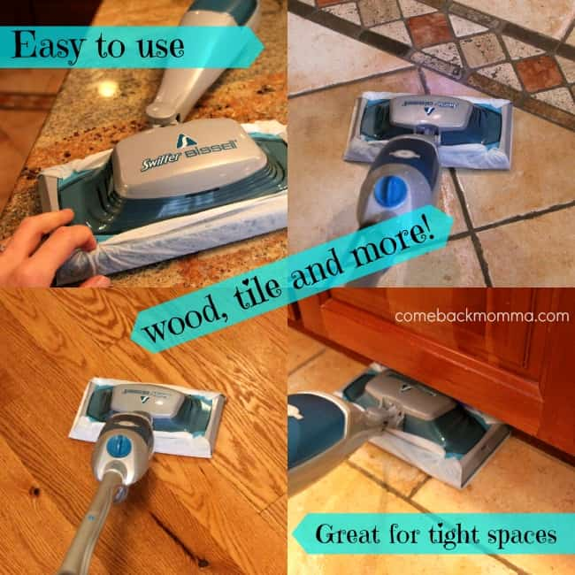 Post Holiday Cleaning Tips With Swiffer Bissell Steamboost