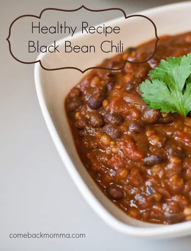 Healthy Recipe Black Bean Chili