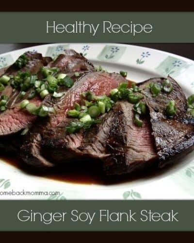 Healthy Recipe: Ginger Soy Flank Steak