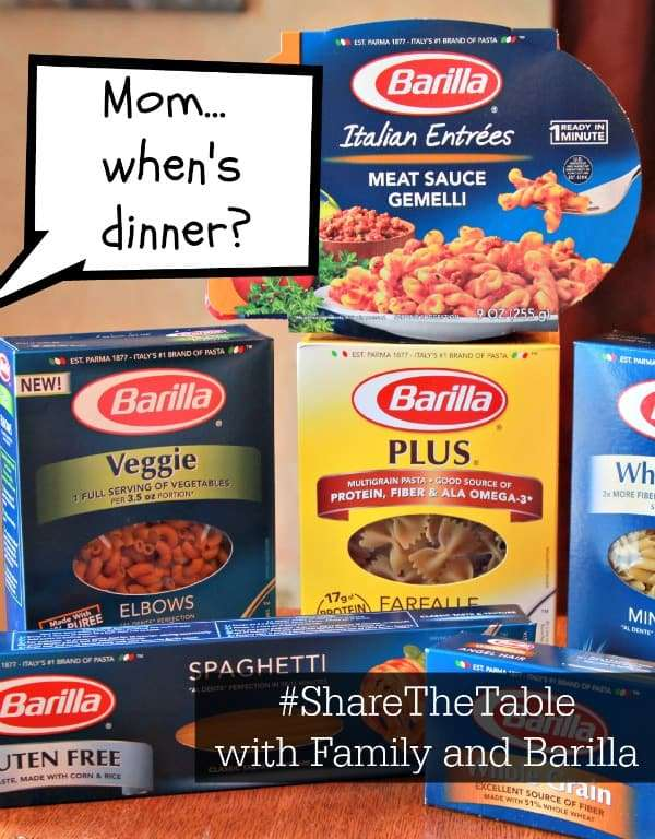 Help Feed America When You #ShareTheTable for Family Meals with Barilla