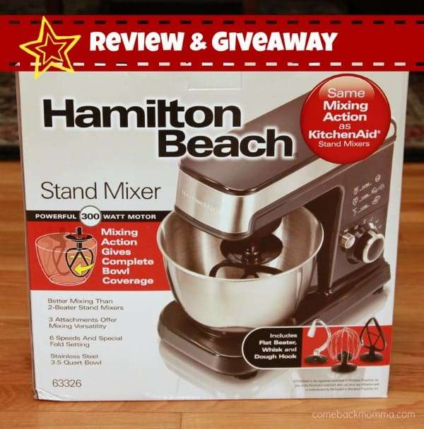 Hamilton Beach Stand Mixer Review and Giveaway