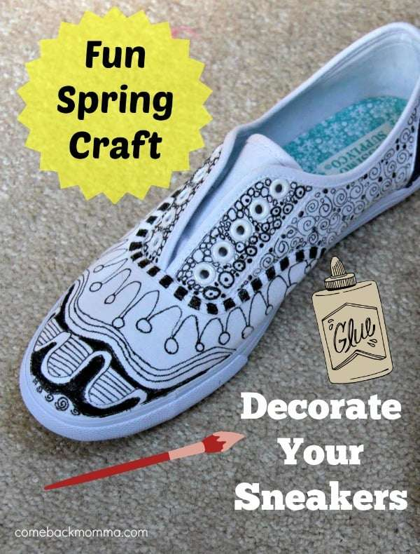 Fun Spring Craft: Decorate Your Sneakers
