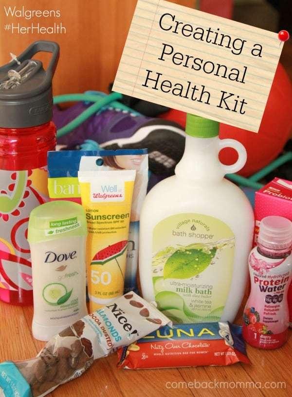 Creating a Personal Health Kit with Walgreens #HerHealth