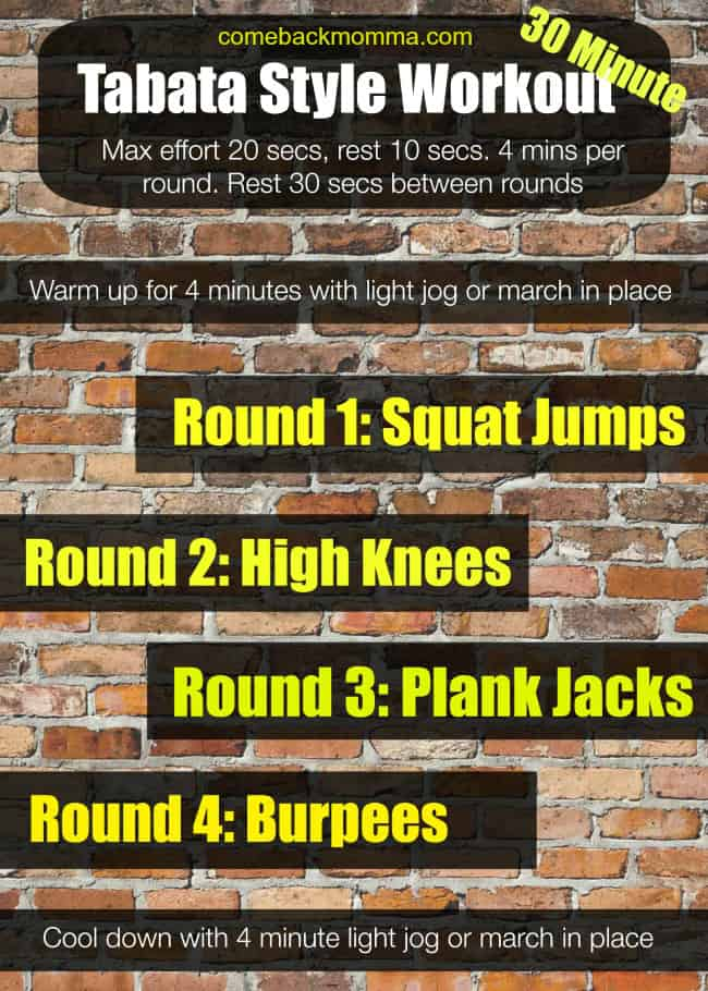 Tabata Style Workouts for Summer Slim Down