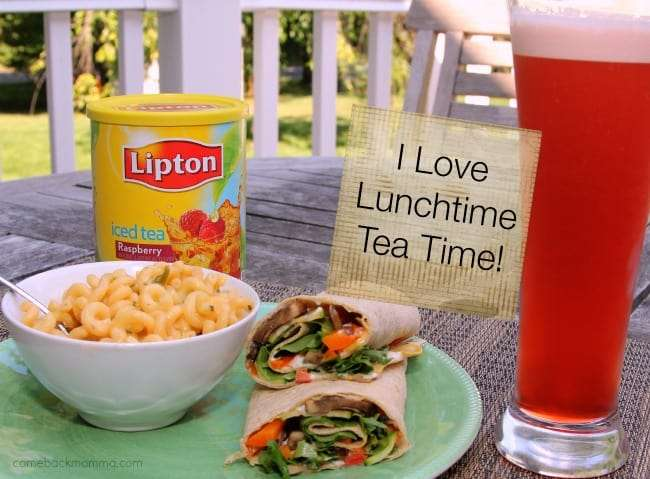 Tea Time with Sautéed Vegetable Wrap & Pasta Salad #TEArifficPairs