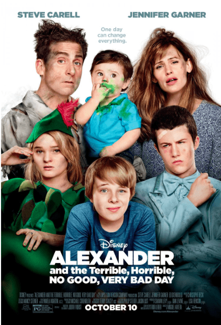 Disney family movie Alexander and the Terrible, Horrible, No Good, Very Bad Day Movie