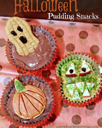 Pudding Cup Halloween Treats