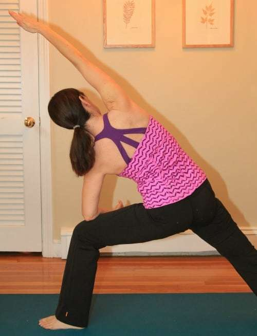 Yoga at home with my lucy Hatha Pant and Crossback Tank