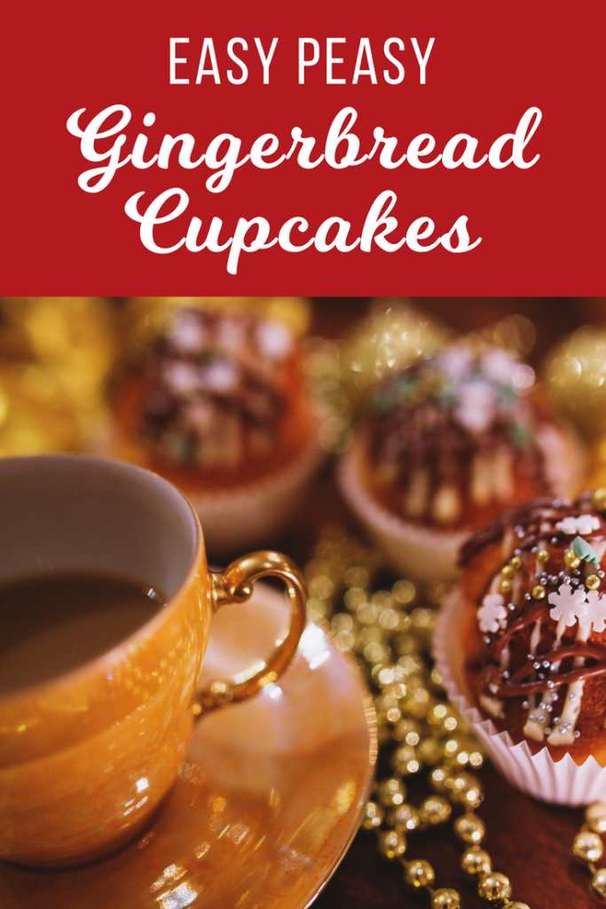 Super easy to make and fun to decorate gingerbread cupcakes