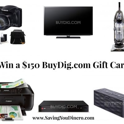 $150 Giveaway for BuyDig.com