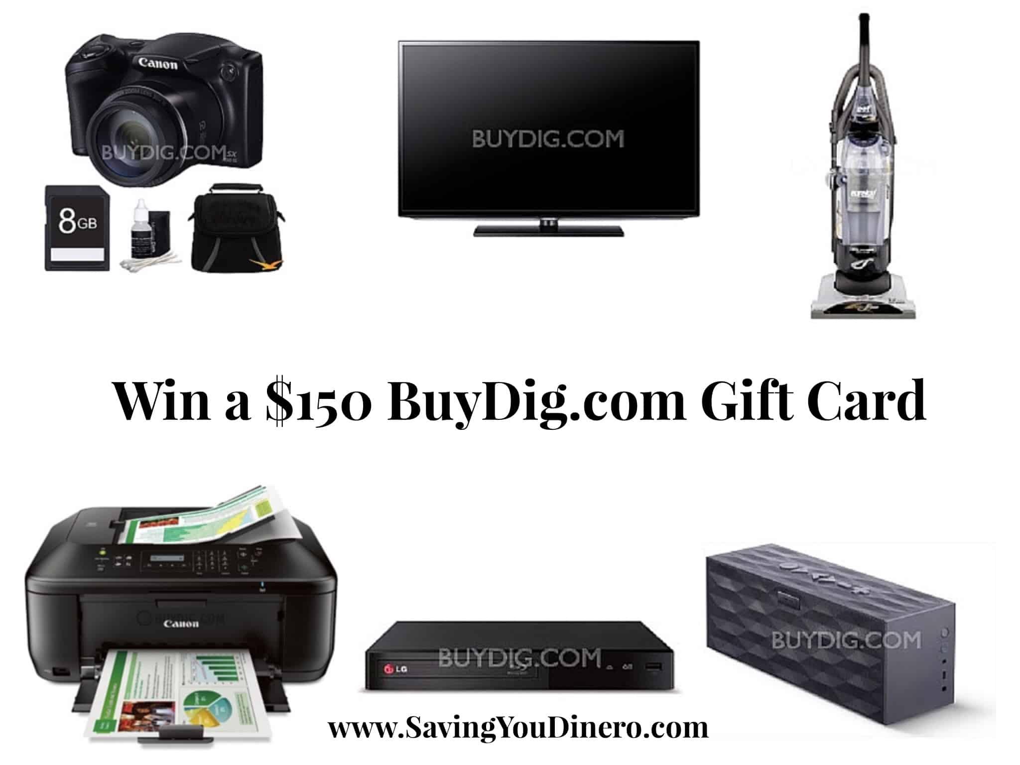 $150 Giveaway for BuyDig.com