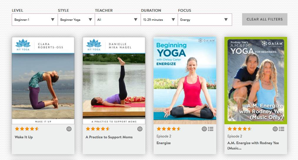 free yoga with stay free My Yoga on Gaiam TV