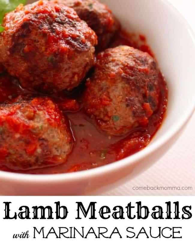 lamb meatballs with marinara sauce