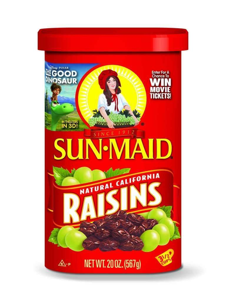Sun-Maid Raisins Good Dinosaur Promotion