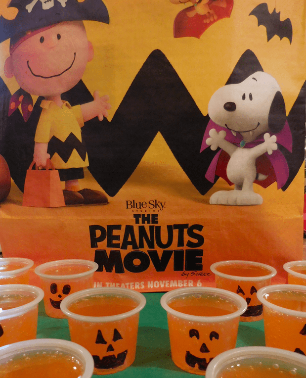 getting excited for the peanuts movie with halloween treats