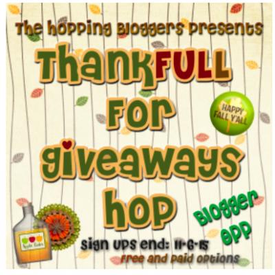 Thankfull for Giveaways Hop Sign ups