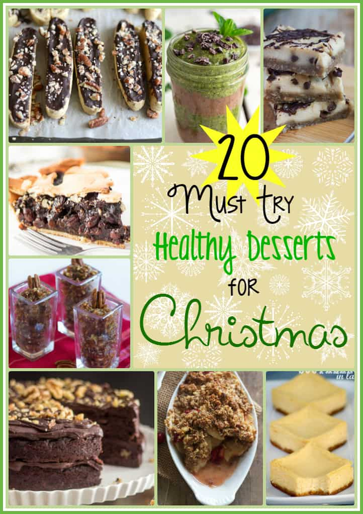 Roundup photo of healthy Christmas desserts