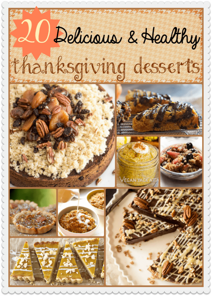 20 Delicious and Healthy Thanksgiving Desserts