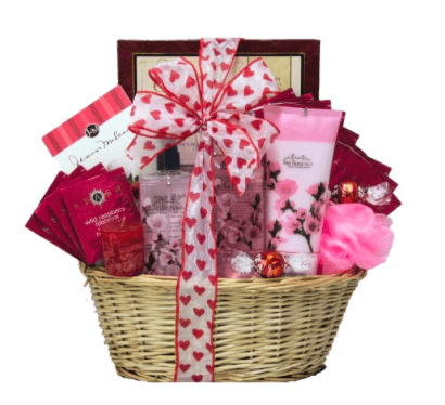Valentine gift basket cup of love giveaway hop comeback momma spa retreat day spa valentine gift basket negle Image collections