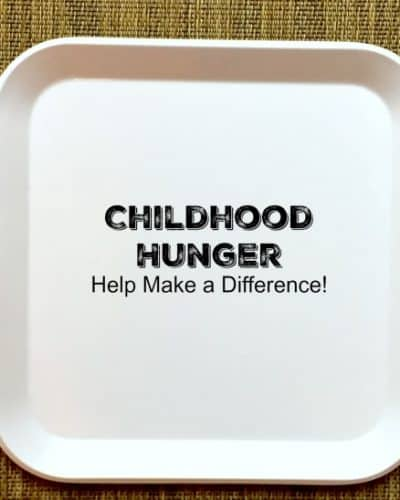 Childhood Hunger was ME! Help Make a Difference!