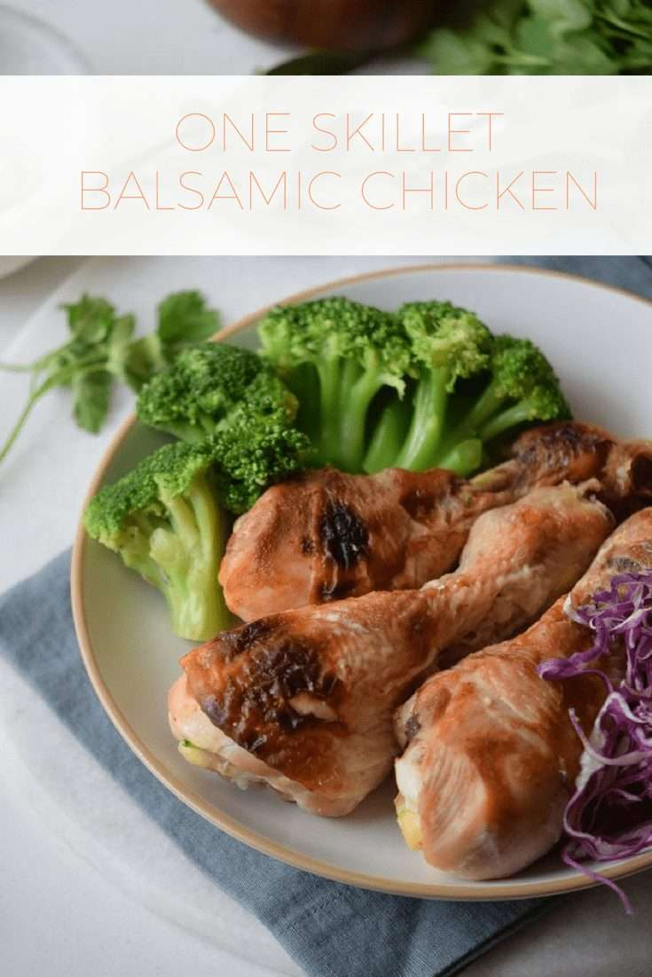 healthy recipe for one skillet balsamic chicken