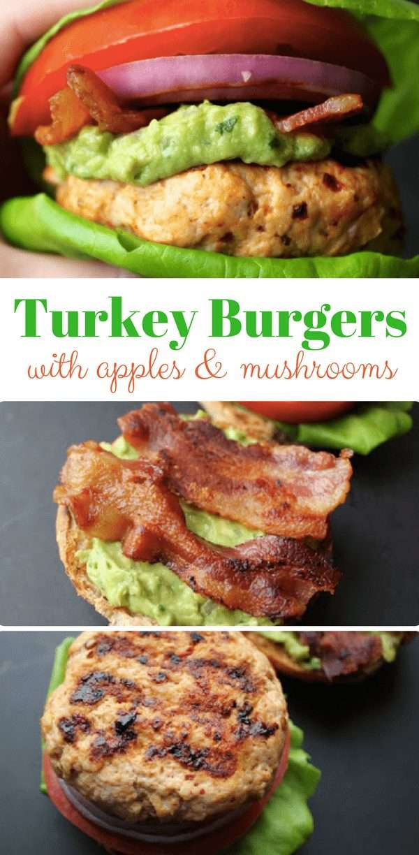 Turkey Burgers with Apples and Mushrooms