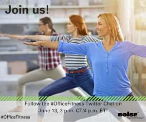 #OfficeFitness Twitter Chat 6/13 4PM ET – Win $50 Gift Card!