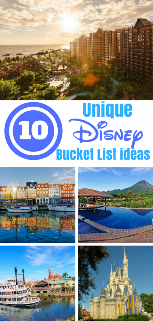 Go beyond the parks with our unique list for a Disney Bucket List