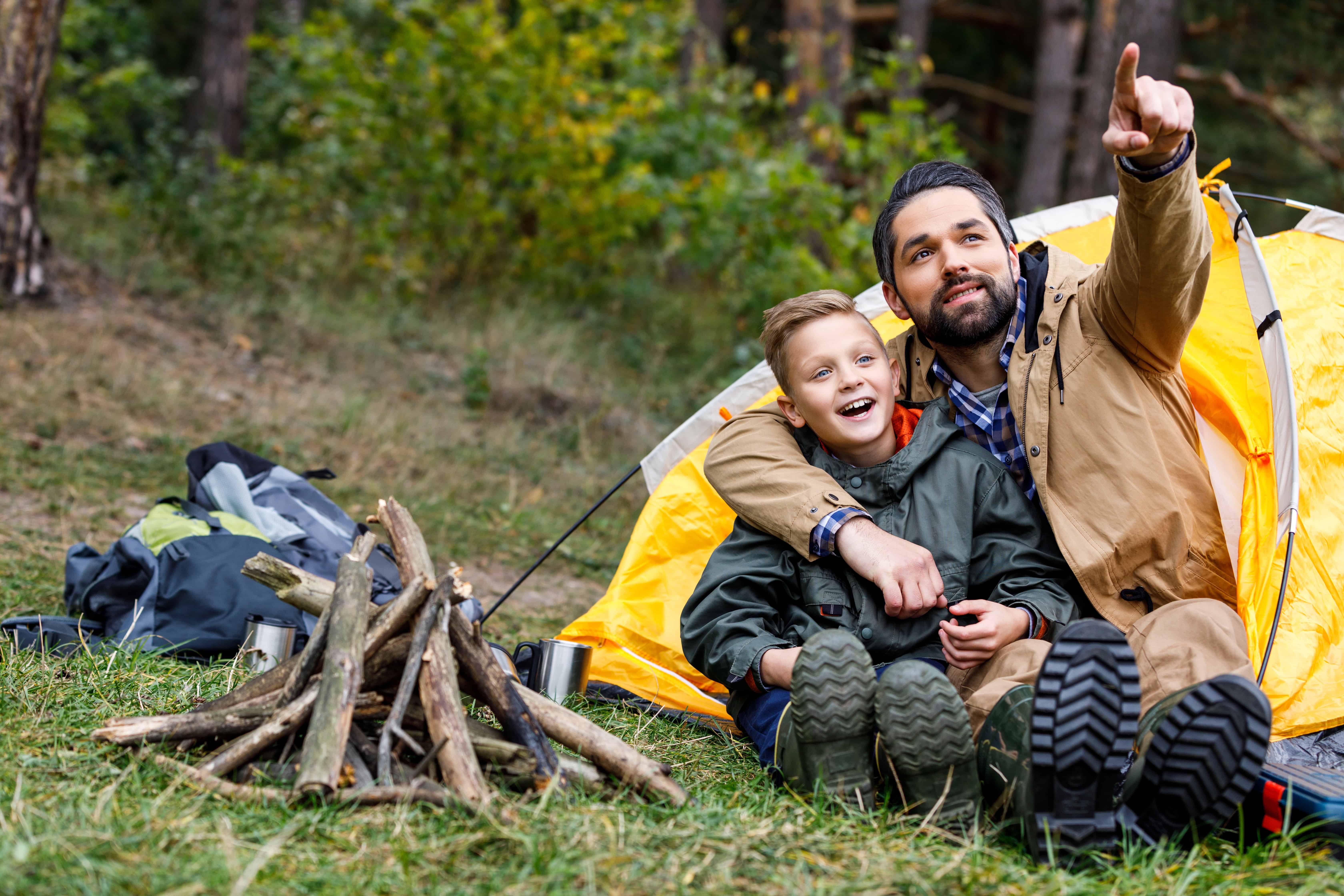 family camping getaway