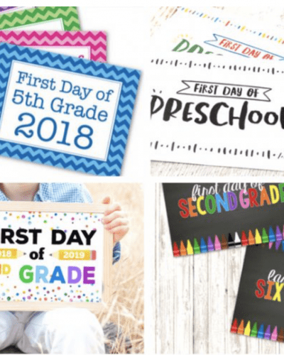 Thinking about capturing that magical moment for the first day back to school? Here are some great ideas for back to school signs
