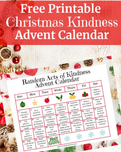 Free Printable Christmas Kindness Advent Calendar