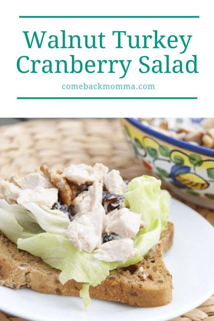 turkey cranberry salad on bread