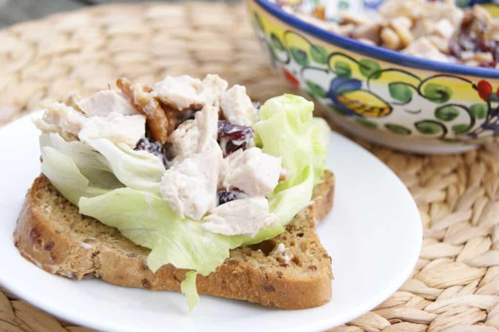 turkey salad on sandwich