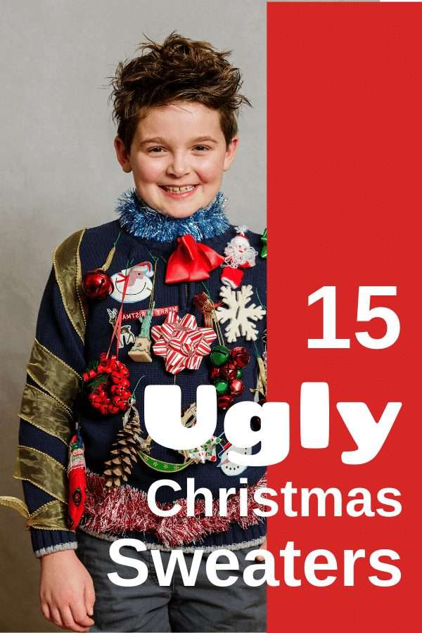 Ugly Christmas Sweaters are all the rage. Get one or give one and dress up for the silly fun of the holidays. #christmas #sweater #ugly #holiday #giftideas