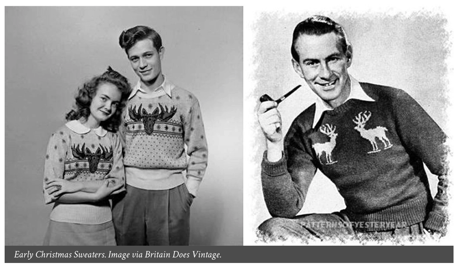 old fashioned ugly Christmas sweaters