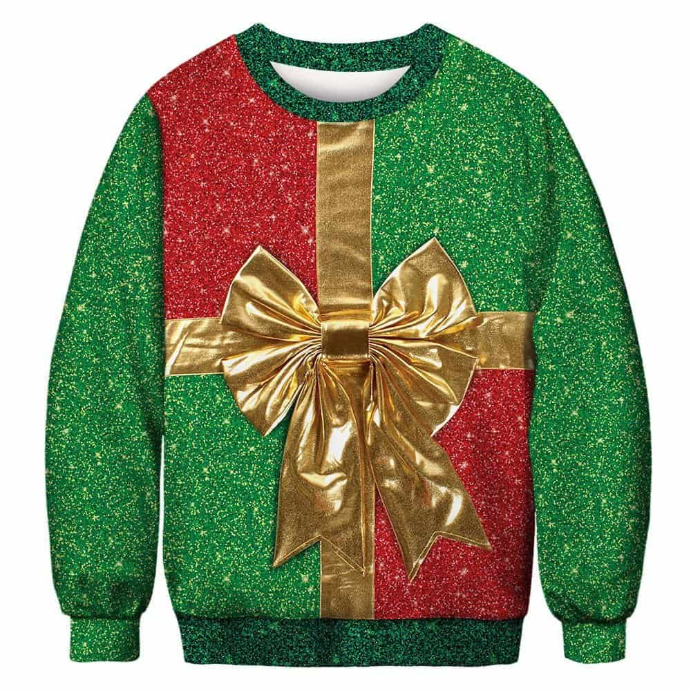 Ugly Christmas sweater with bow
