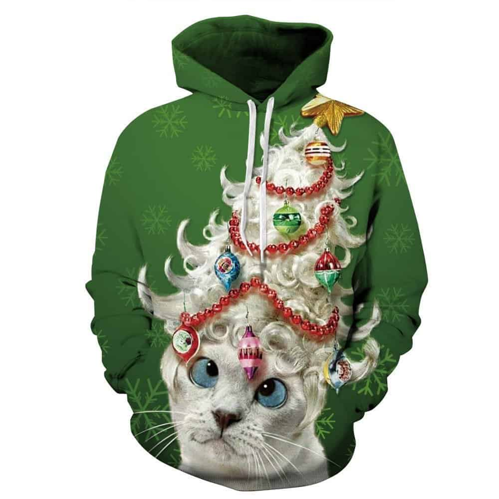 Ugliest Christmas Sweater - can with tree hat