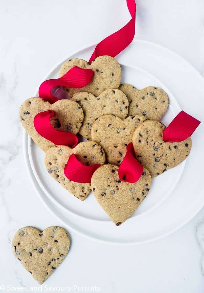 Healthier heart shaped sugar cookies for valentine's day